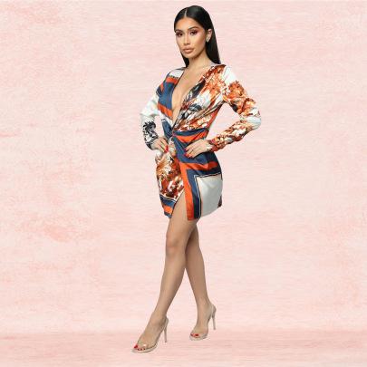 Women's Fashion Printing Sexy V-neck Jumpsuit Nihaostyle Clothing Wholesale NSXYZ68559