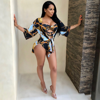 Women's Sexy Printing Two-piece Swimsuit Nihaostyle Clothing Wholesale NSXYZ68568