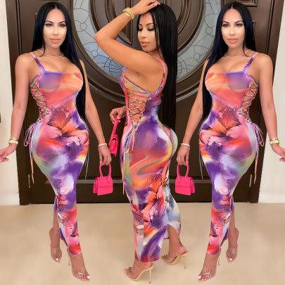 Women's Sexy Mesh See-through Suspender Dress Nihaostyle Clothing Wholesale NSXYZ68570
