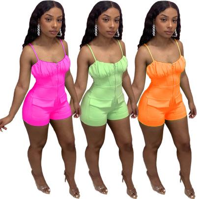 Slimming Pocket Jumpsuit Wholesale Clothing Vendor Nihaostyles NSQMD68637