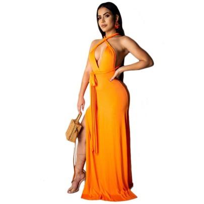 Sexy Split Plus Size Women's Dress Nihaostyle Clothing Wholesale NSMYF68687
