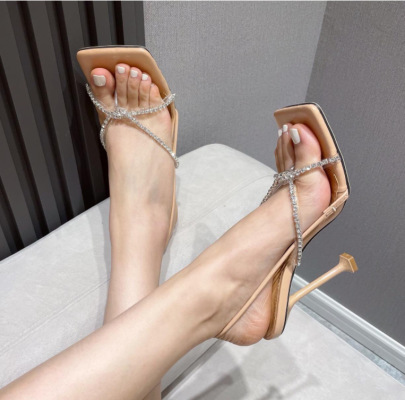 New Women's Square Toe Sandals Nihaostyle Clothing Wholesale NSSO68788