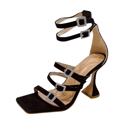 Rhinestone High Heel Buckle Sandals Nihaostyle Clothing Wholesale NSSO68794