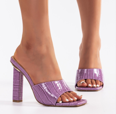 New Style Women's Thick High-heeled Square Toe Sandals Nihaostyle Clothing Wholesale NSSO68805