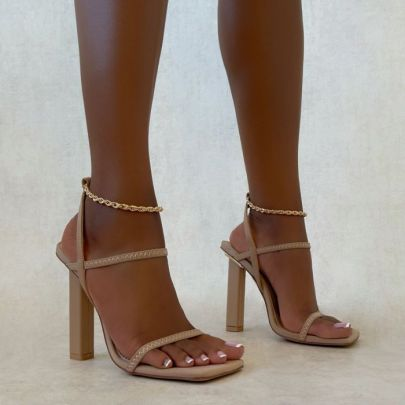 New Style Women's Square Toe Chain Sandals Nihaostyle Clothing Wholesale NSSO68806