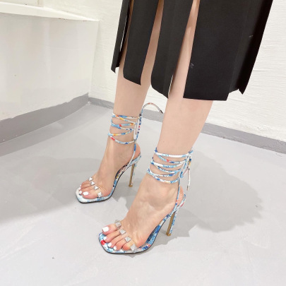 Color Matching Strappy Stiletto Nihaostyle Clothing Wholesale NSSO68815