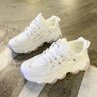 Platform Panelled Mesh Sneakers Wholesale Clothing Vendor Nihaostyles NSYUS68975