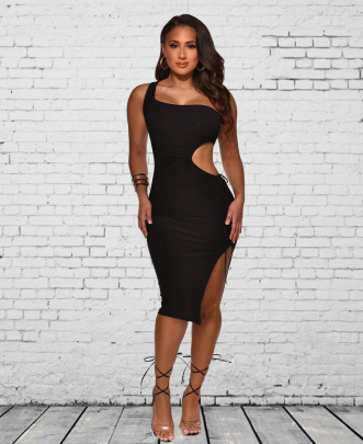 Summer Sexy Hollow Solid Color Dress Wholesale Clothing Vendor Nihaostyles NSYC68977