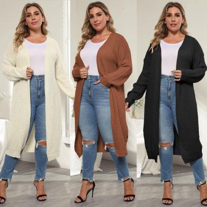 Large Size Women's Mid-length Sweater Nihaostyle Clothing Wholesale NSOY68980