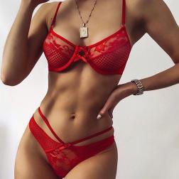 encaje de malla arco sexy correa de cabestrillo anillo de acero ropa interior al por mayor vendedor de ropa Nihaostyles NSWY69038
