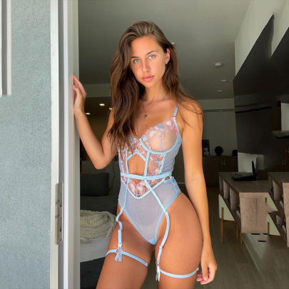 Lace Embroidery Perspective Sling One-piece Lingerie Wholesale Clothing Vendor Nihaostyles NSWY69096