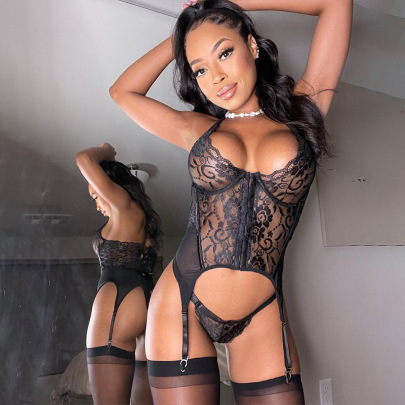 Lace Front Buckle To Receive Waist Shaping Bodysuit Wholesale Clothing Vendor Nihaostyles NSWY69099