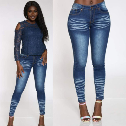 New Low-waist Slim Stretch Jeans Nihaostyle Clothing Wholesale NSTH69159