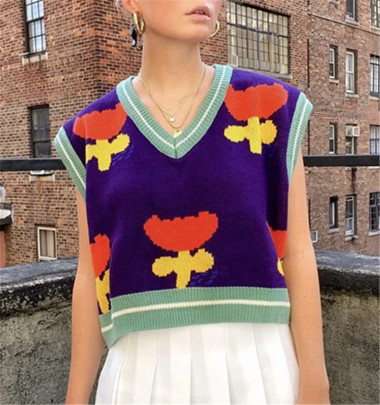 New Style Flower Knitted Vest Nihaostyle Clothing Wholesale NSHS69172