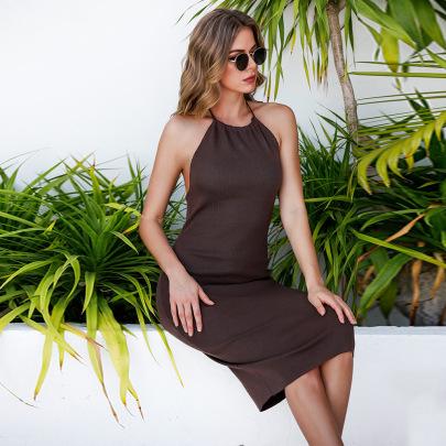 Women's Summer New Style Halter Sexy Dress Nihaostyle Clothing Wholesale NSJR69178