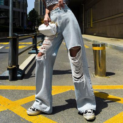 Summer Women Loose Thin High Waist Pants Nihaostyle Clothing Wholesale NSJR69188