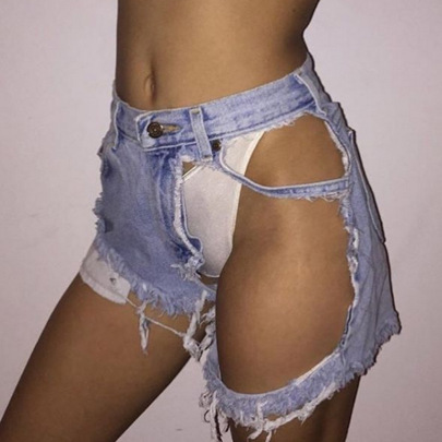 Hot Sexy Women Jeans Shorts Nihaostyle Clothing Wholesale NSTH69121