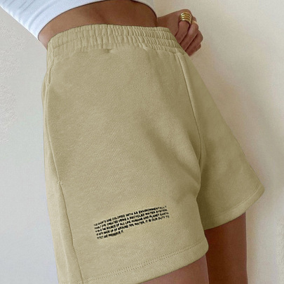 Autumn New Style Solid Color Printed Shorts Nihaostyle Clothing Wholesale NSYLF69226