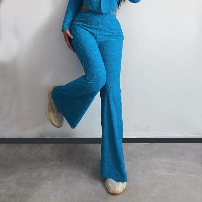 New Style Jacquard  High Waist Wide-leg Pants Nihaostyle Clothing Wholesale NSFLY69240