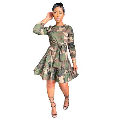 Women's Long-sleeved Print A-line Skirt Nihaostyle Clothing Wholesale NSALI69272