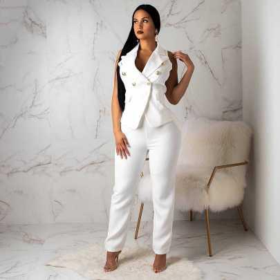 Commuting Summer Women's Jacket Trousers Set Nihaostyle Clothing Wholesale NSALI69273