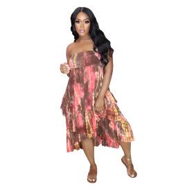 Women's Printed Irregular Floral Skirt Nihaostyle Clothing Wholesale NSALI69279