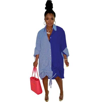 Women's Fashion Casual Loose Waist Dress Nihaostyle Clothing Wholesale NSSJW69288