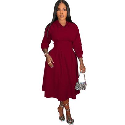 Fashion V-neck High-waisted Dress Nihaostyle Clothing Wholesale NSSJW69290