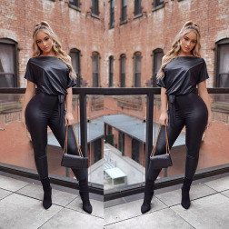 autumn new women's leather jumpsuit nihaostyle clothing wholesale NSYMA69387