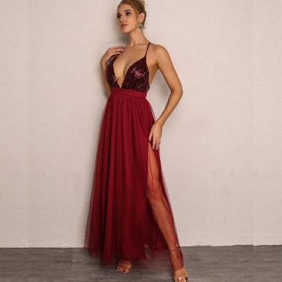 Women's Summer New High-waist Sling Dress Nihaostyle Clothing Wholesale NSYMA69389