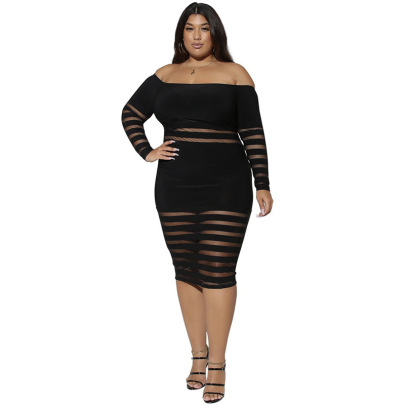 Plus Size Women's Solid Color Hip-lifting Dress Nihaostyle Clothing Wholesale NSYMA69388