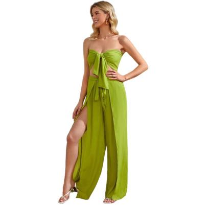 Women's Autumn New Strapless Sexy Set Nihaostyle Clothing Wholesale NSYMA69397