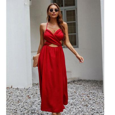 Summer New Retro Satin Sexy Dress Nihaostyle Clothing Wholesale NSYMA69398
