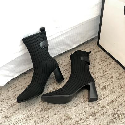 Chunky Heel High Heel Short Boots Nihaostyle Clothing Wholesale NSYUS69429