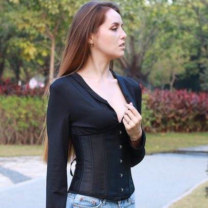 Long-sleeved Deep V-neck Back Tie-rope Top Wholesale Clothing Vendor Nihaostyles NSSWF69497