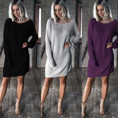 Spring And Autumn Women's Sleeve Loose Dress Nihaostyle Clothing Wholesale NSYID69626