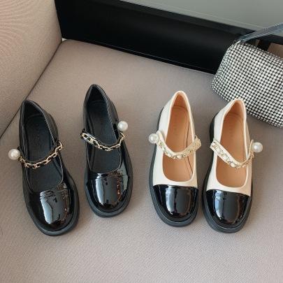 Shallow Flat Leather Shoes Wholesale Clothing Vendor Nihaostyles NSCA69703