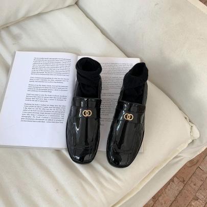 Metal Buckle Flat Shoes Wholesale Clothing Vendor Nihaostyles NSCA69706