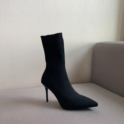 New Women High-heeled Knit Short Boots Nihaostyle Clothing Wholesale NSHU69748