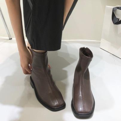 Square Toe Thick Heel Fashion Boots Nihaostyle Clothing Wholesale NSHU69768