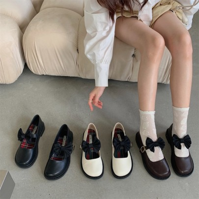Fall New Small Leather Round Toe Flat Shoes Nihaostyle Clothing Wholesale NSHU69775