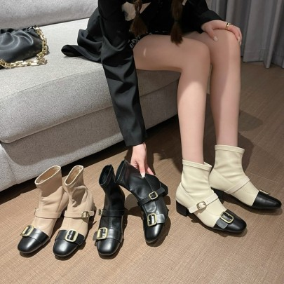 Autumn And Winter New Fashion Thick-heeled Martin Boots Nihaostyle Clothing Wholesale NSHU69803