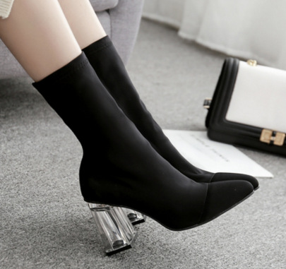 Crystal High Heel Pointed Toe Boots Wholesale Clothing Vendor Nihaostyles NSSO69843