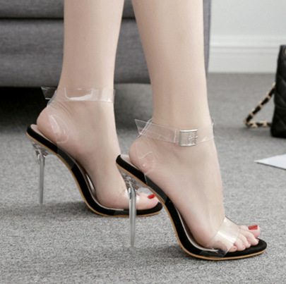 Transparent Crystal High Heels Wholesale Clothing Vendor Nihaostyles NSSO69866