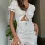 V-neck Lace-up Temperament Short Dress Wholesale Clothing Vendor Nihaostyles NSXPF69897