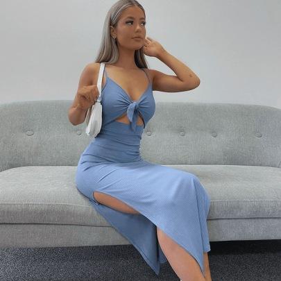 Hollow Strap Wrap Chest Suspender Dress Wholesale Clothing Vendor Nihaostyles NSXPF69920