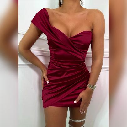 One-shoulder Sleeveless Dress Wholesale Clothing Vendor Nihaostyles NSXPF69951