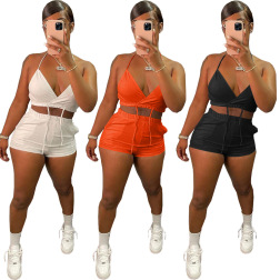 women's summer sexy sling two-piece set nihaostyle clothing wholesale NSFNN70050