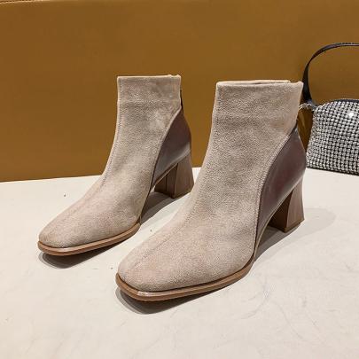 Chunky Heel High Heel Short Boots Nihaostyle Clothing Wholesale NSYUS70086