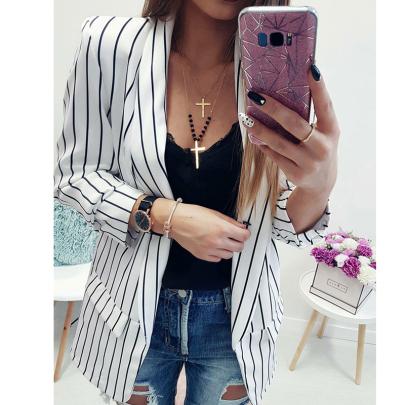 Cardigan Long Sleeve Striped Small Set Wholesales Nihaostyle Clothing NSYID70387